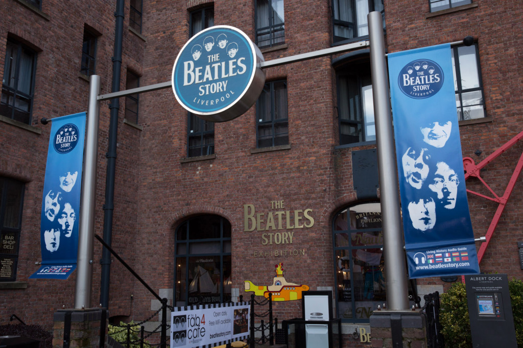 La entrada a The Beatles Story Exhibition.