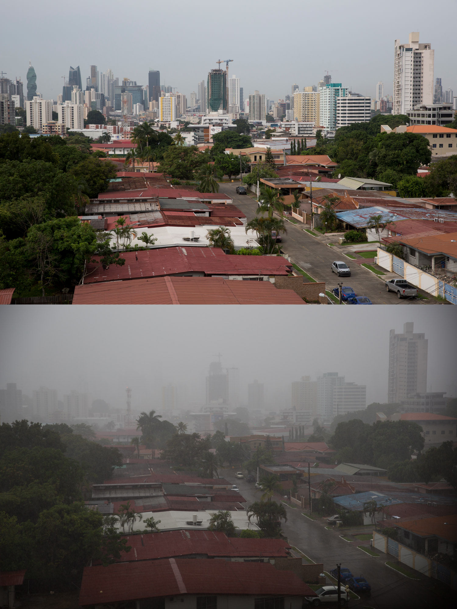 Cómo se ve una tormenta tropical en la ciudad de Panamá