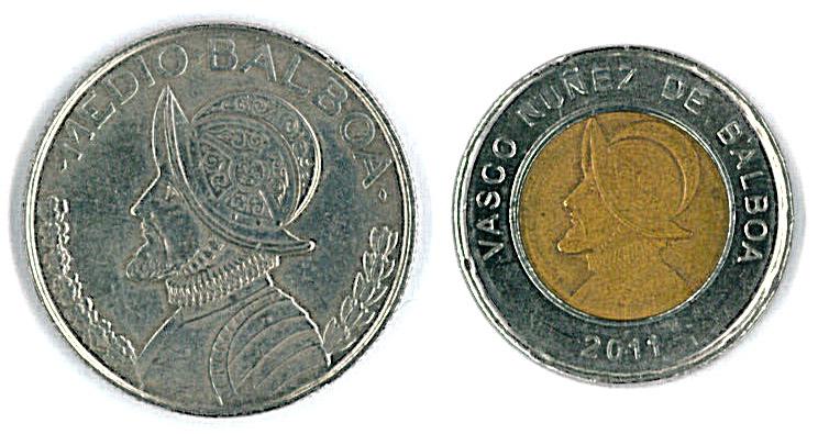 Monedas De Un Y Medio Balboa Panameño