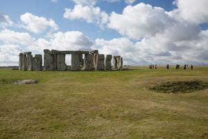 Visitantes en Stonehenge, Inglaterra