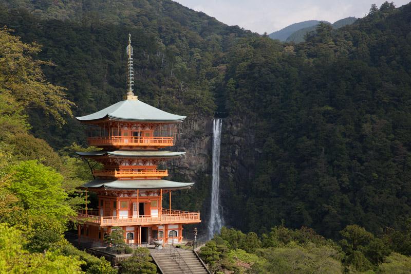 Pagoda de Seiganto-ji y cascada Nachi, Japón