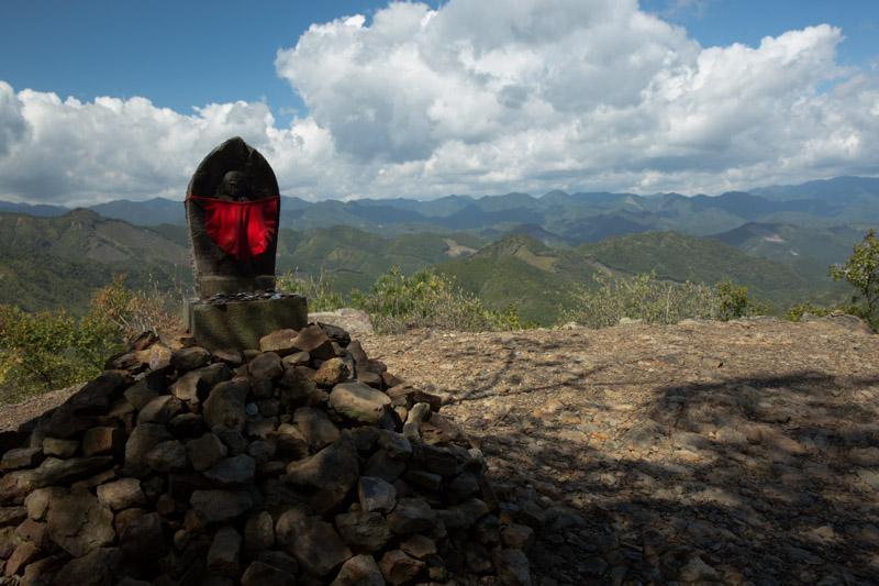 Vista de las montañas Kii desde Hyakken-gura, Japón