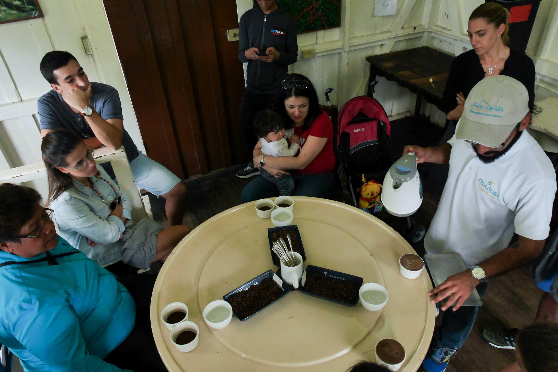 Cata de café en Finca Lérida, Boquete, Panamá
