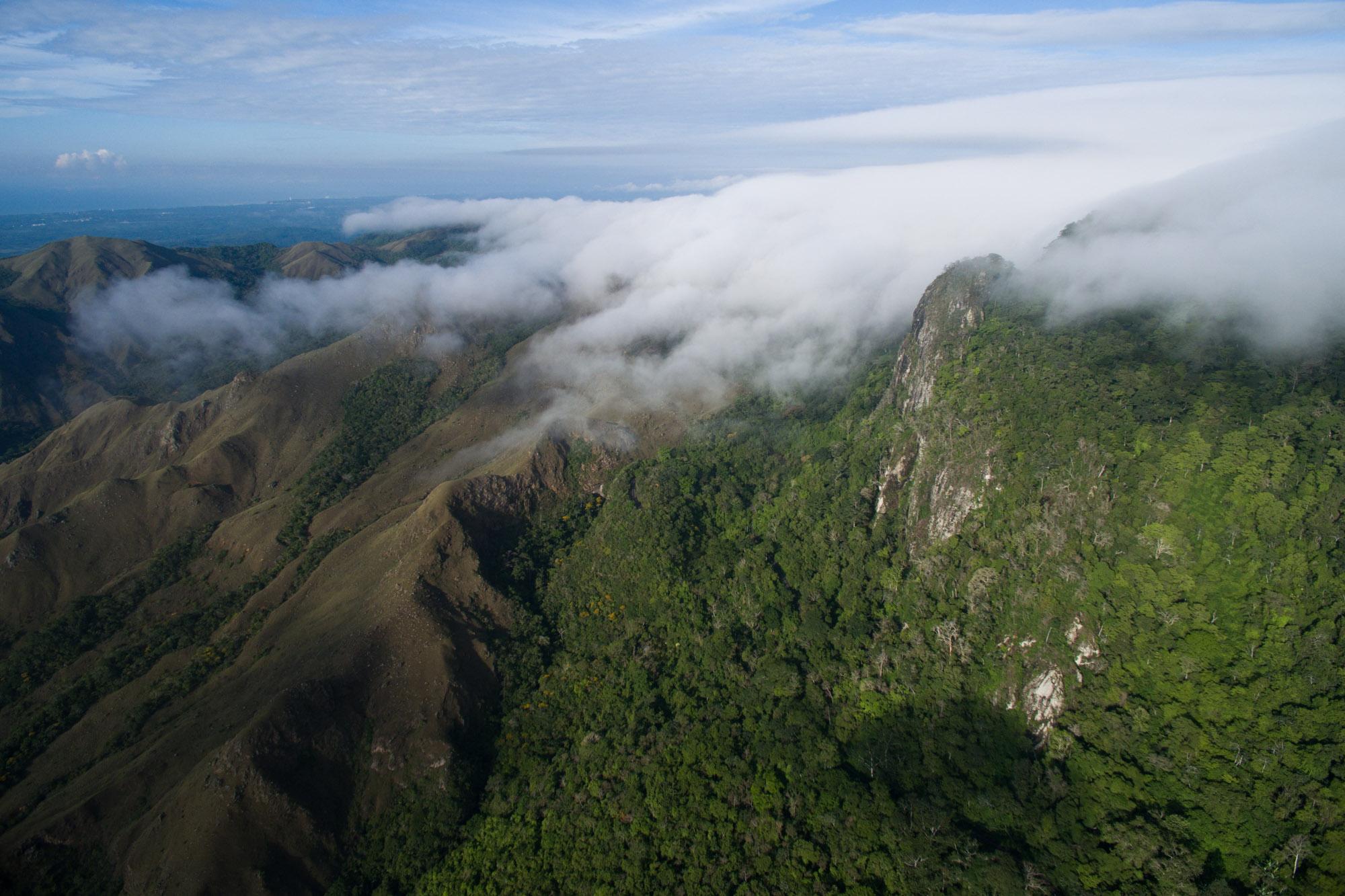 Vista áerea del parque nacional Altos de Campana, Panamá